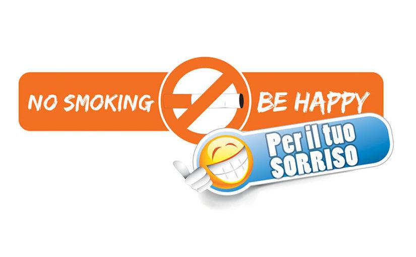 """no smo """"No smoking be happy – Per il tuo sorriso"""""""