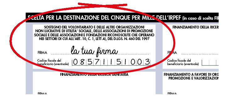 Codice Fiscale 08571151003: il tuo 5x1000 a Fondazione ANDI.