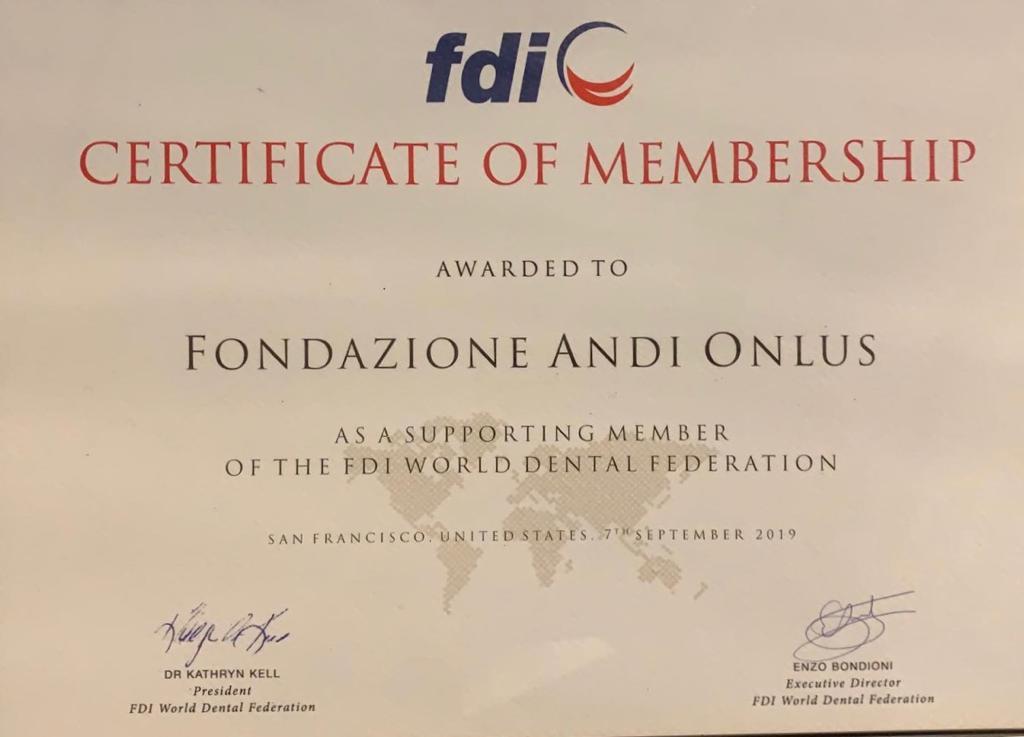 IMG 20190908 WA0003 Fondazione ANDI diventa Supporting Membership di FDI - World Dental Federation