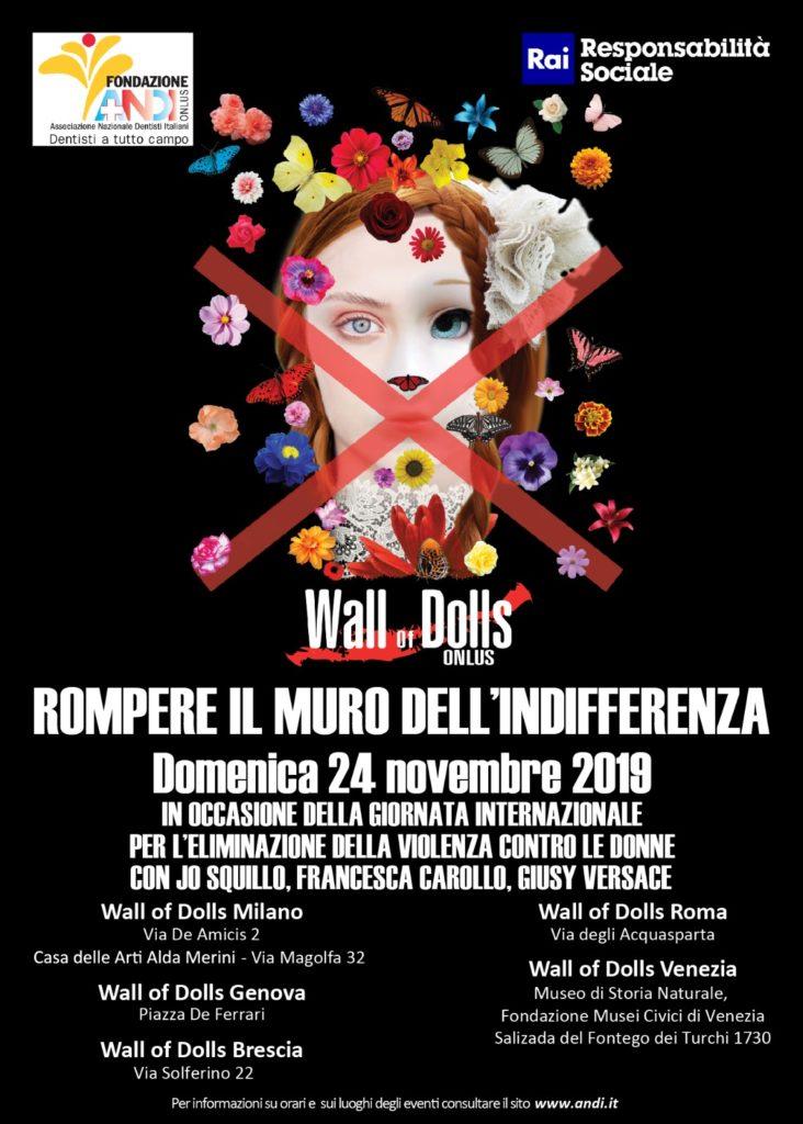 Locandina Evento 24 novembre Domenica 24 novembre: il muro delle bambole si rinnova in occasione della giornata contro la violenza sulle donne