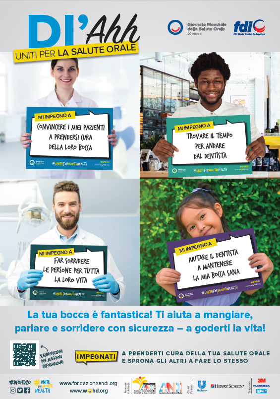 WOHD20 poster dentist IT Uniti per la salute orale