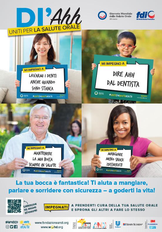 WOHD20 poster public IT Uniti per la salute orale