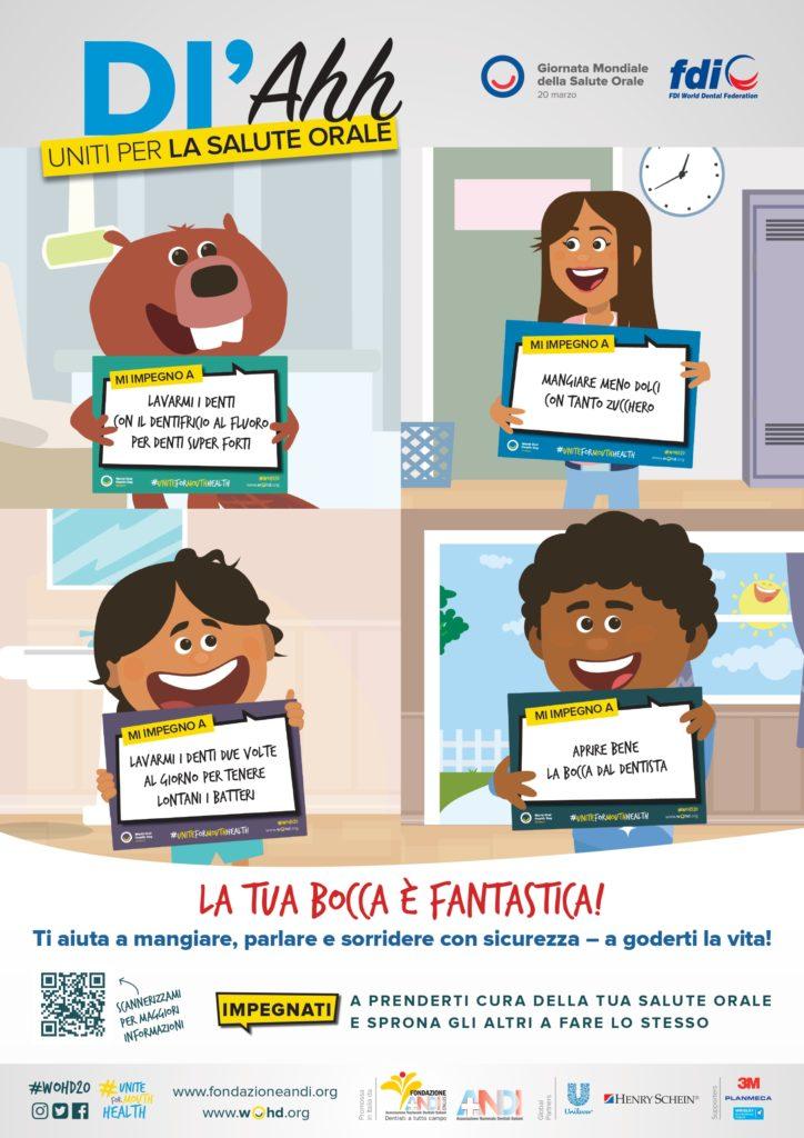 WOHD20 poster kids IT Uniti per la salute orale