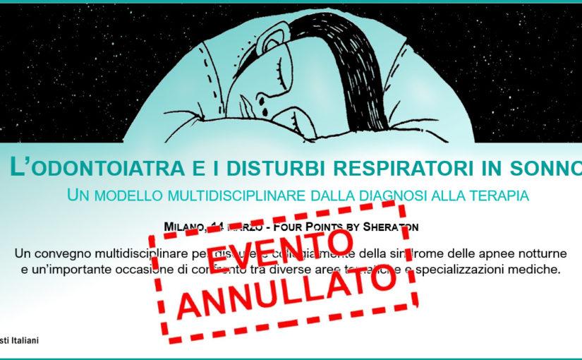 evento annullato timbro ANNULLATO CONVEGNO DEL 14 MARZO 2020 a Milano