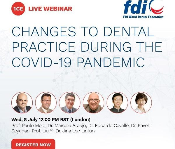 meeting 8 july Join our second webinar on the 8th of July: COVID-19 and dental practice