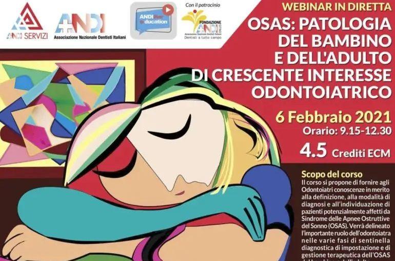 locandina 06022021 def 1 1 770x540 1 6/2/21 OSAS: patologia del bambino e dell'adulto di crescente interesse odontoiatrico