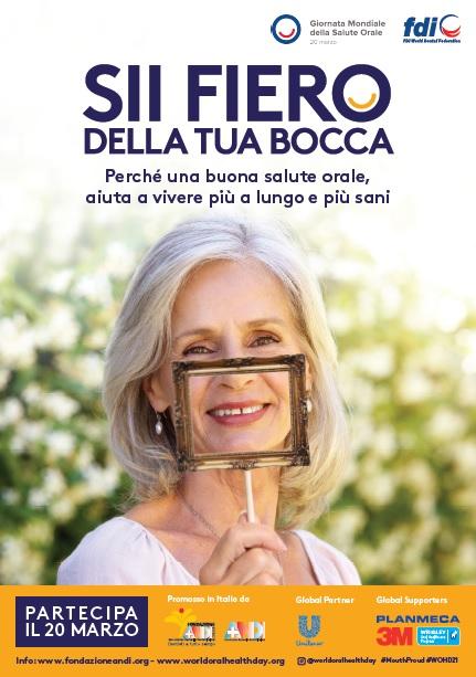 poster takecharge Giornata Mondiale della Salute Orale