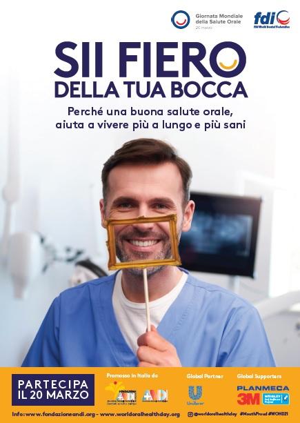poster visitdentist Giornata Mondiale della Salute Orale