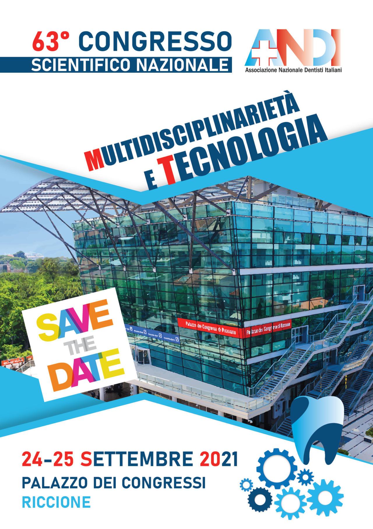 congresso 2021 Congresso Scientifico Nazionale ANDI – 24 e 25 settembre 2021 Palazzo dei Congressi di Riccione
