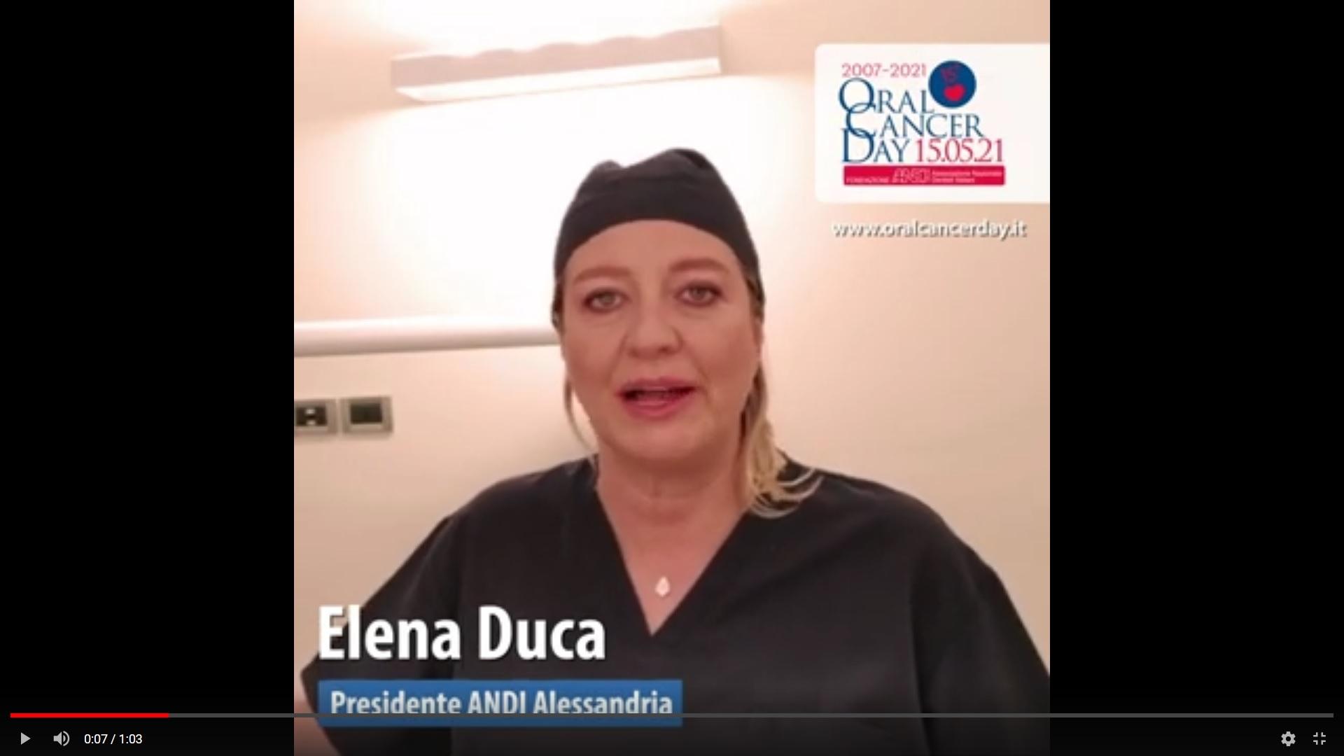 screen duca Video appello OCD 2021 - Elena Duca