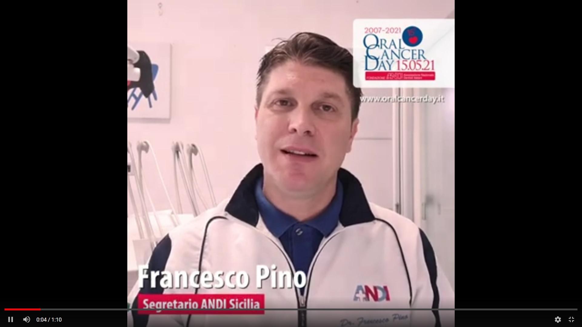 screen pino Video appello OCD 2021 - Francesco Pino