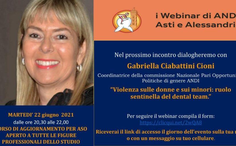 """webinar 22 giugno 2021 andi asti alessandria Webinar 22-06-2021: """"Violenza sulle donne e sui minori: ruolo sentinella del dental team"""""""